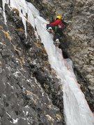 Rock Climbing Photo: Ergo on Grade 3 ice...in Hylite