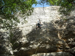 Rock Climbing Photo: Shaking out on one of the many good rests on Proto...