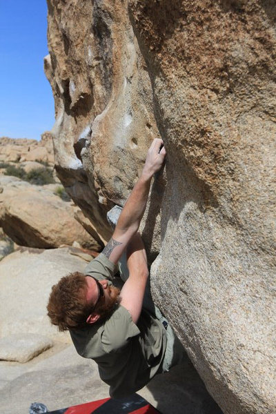 Rock Climbing Photo: working to the finish