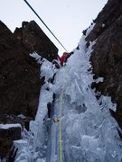 Rock Climbing Photo: Thin ice on Flow reversal '09