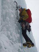 Rock Climbing Photo: The Joke Slinger on Polar Circus at -30C '11