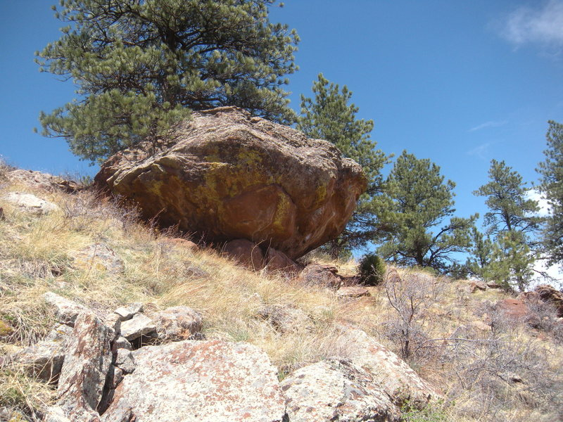 Rock Climbing Photo: Bulge Boulder from the south.
