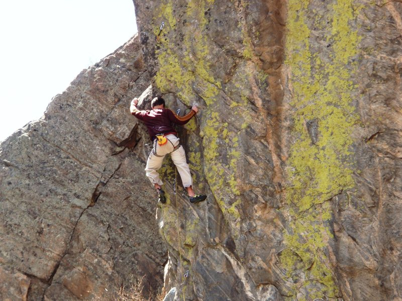 Rock Climbing Photo: Pulling through the crux.