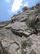 Rock Climbing Photo: Dennis Jones on Dark at Seven.
