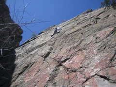 Rock Climbing Photo: Rockin' with the King.  At bolt 7 of 10 on BB King...