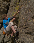 Rock Climbing Photo: Ryan Fiore on Road Rash Roof.