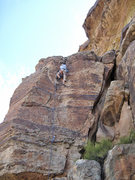 Rock Climbing Photo: At the top of Kibbles and Grits.