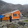 getting some altitude in Ecuador - 4700 m - where we slept before summit day on Iliniza Norte<br>