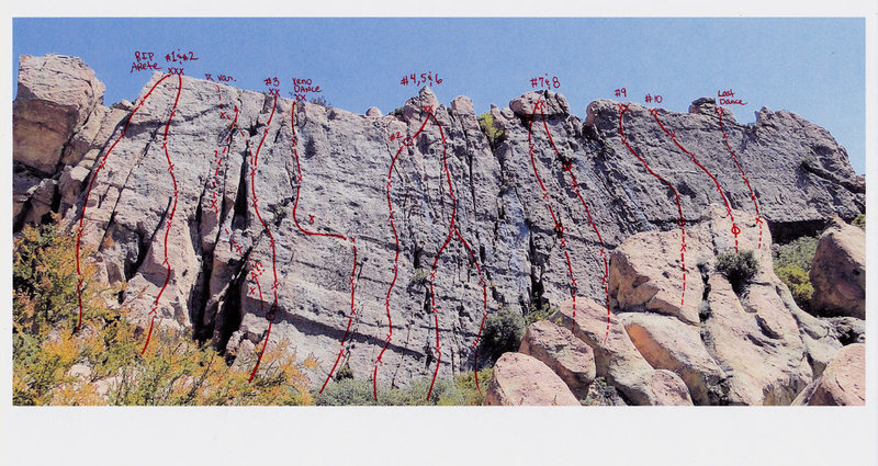 Saddle Peak, Corpse Wall routes.