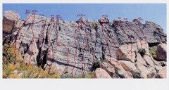Rock Climbing Photo: Saddle Peak, Corpse Wall routes.