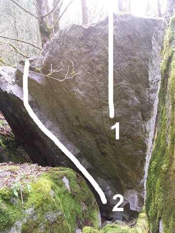 Rock Climbing Photo: 1. Closet Case 2. Axe Hole