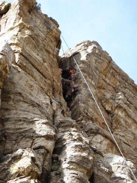 Rock Climbing Photo: Doing some of the chimney moves near the end of th...