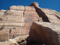 Rock Climbing Photo: the generic crack .10a~ indian creek