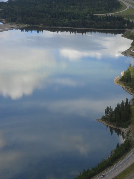 Reflection, Lac des Arcs, Bow Valley, Alberta<br>