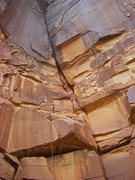 Rock Climbing Photo: The route with the upper corner foreshortened.
