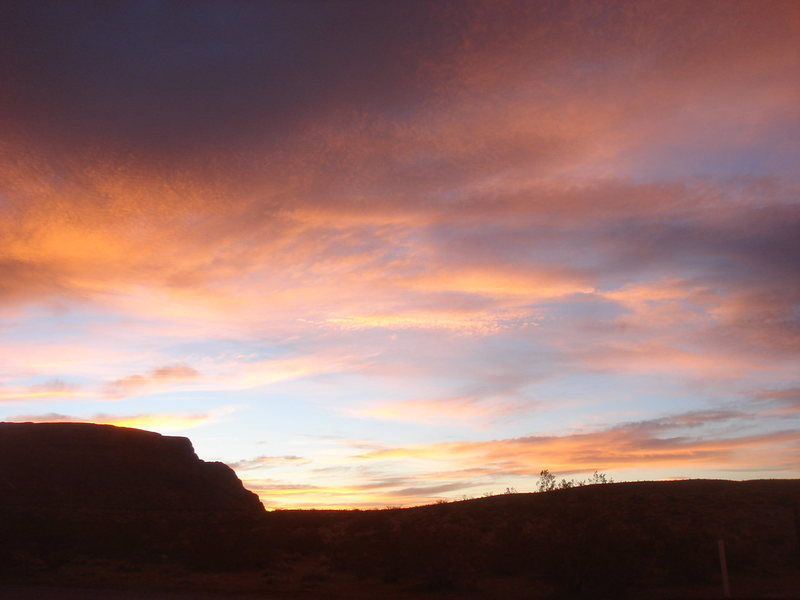 Sunrise from camp.