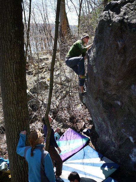 Rock Climbing Photo: Finishing, April 2011.