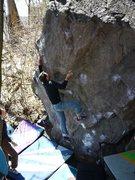 Rock Climbing Photo: Jeff sending, April 2011.