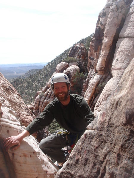 Rock Climbing Photo: Matt joins me at the pitch 1 anchor.