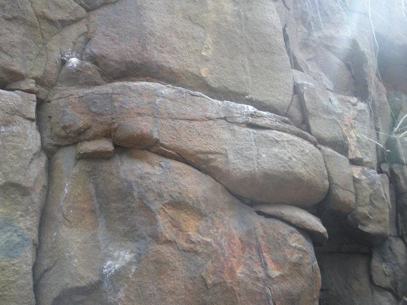 Rock Climbing Photo: start of grab some grass