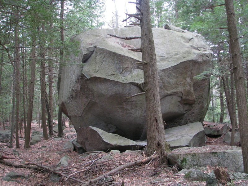The 30 foot plus Mowgli Boulder, with routes up to V10