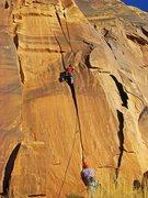 Rock Climbing Photo: Neil on the OS FA.