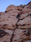 Rock Climbing Photo: Ross leading pitch 2.