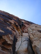 Rock Climbing Photo: Matt and Ross on pitch 1 of Geronimo.