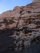 Rock Climbing Photo: Ross high on pitch 2 of Geronimo.