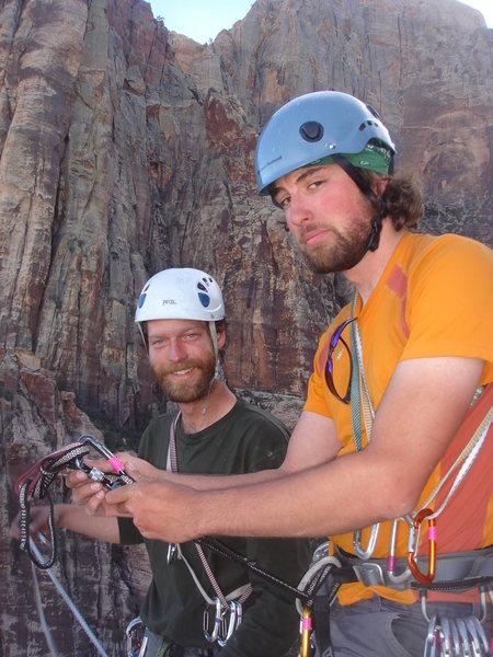 Rock Climbing Photo: Matt and Ross ready to go.