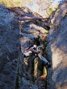 Rock Climbing Photo: Fun movement on this route.