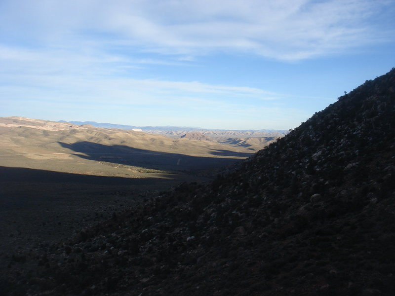 Lengthening shadows, Red Rock, NV