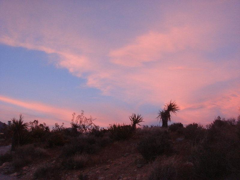 Desert sunset, Red Rock, NV