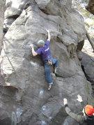 Rock Climbing Photo: Nic sending Soupmaker.