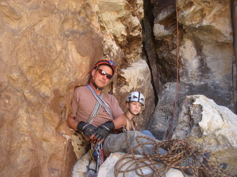 Rock Climbing Photo: Hanging out at the first belay of Tunnel Vision wi...