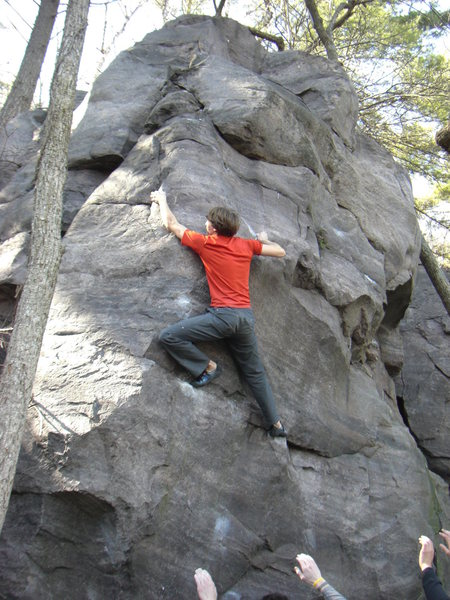 Rock Climbing Photo: Chris cruising the Keymaker.