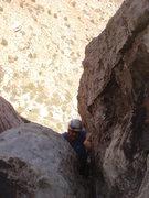 Rock Climbing Photo: Derek finishing pitch 3.
