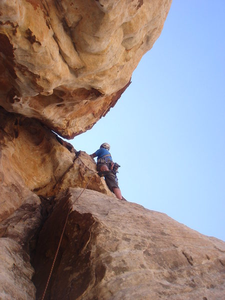 Derek leading pitch 4 of Tunnel Vision.