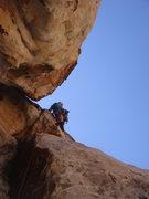 Rock Climbing Photo: Derek leading pitch 4.