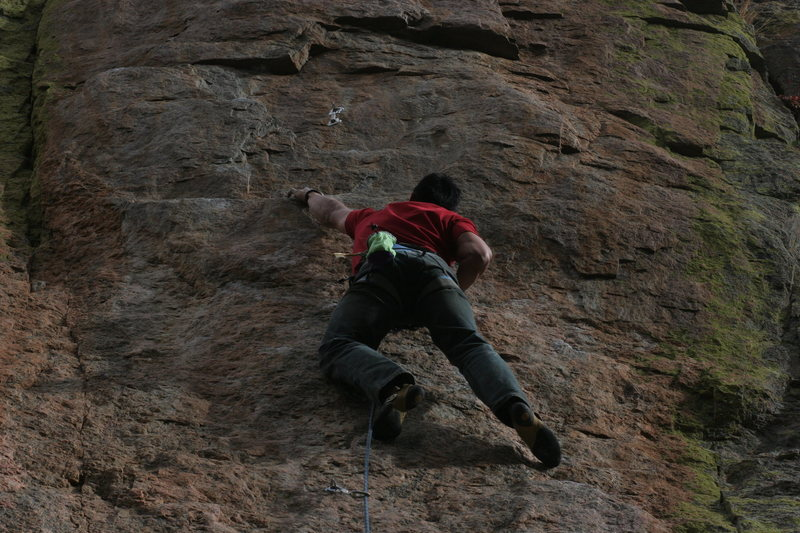 The start of the first crux.