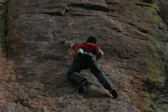 Rock Climbing Photo: The start of the first crux.