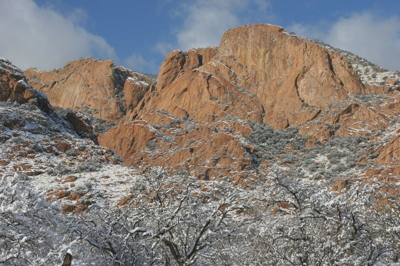 Rock Climbing Photo: Snow at Out of towner's dome