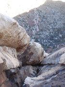 Rock Climbing Photo: Derek coming up pitch 5.