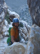 Rock Climbing Photo: Ross on the descent from Angel Food Wall.