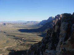 Rock Climbing Photo: The row of titan walls, from the top of Angel Food...