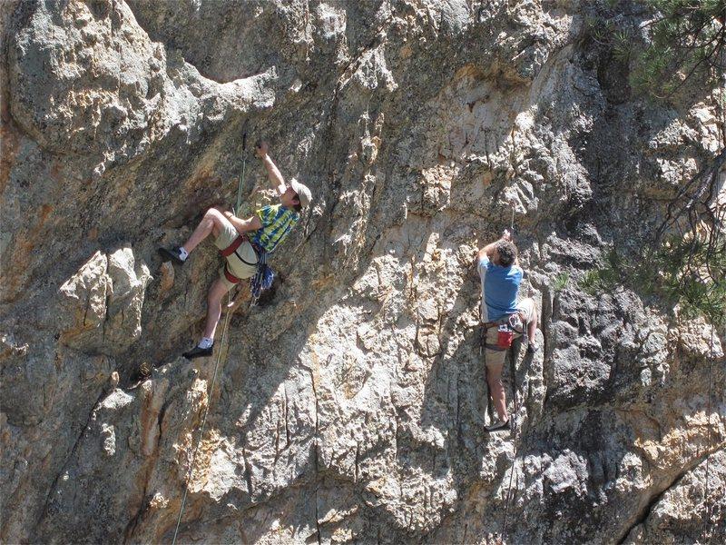 Rock Climbing Photo: Steve Grossman and John Steiger jug hauling at Ray...