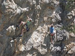Rock Climbing Photo: Steve Grossman and John Steiger jug hauling at Ray...