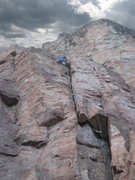 "Rock Climbing Photo: Matt Johnson on ""Pussyfoot"" 5.9 at Palis..."