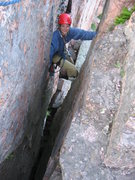 Rock Climbing Photo: Laura Machacek seconding the last pitch Photo by: ...