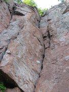 "Rock Climbing Photo: ""KGB"" viewed from below"